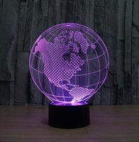 No abs maps - Novelty LED Lighting D Bulbing Table Lamp USB Recharging Earth Globe America Map Night Light Atmosphere Lamp Bedroom Decoration
