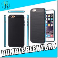 bee cases - for Iphone I7 plus bumble bee hybrid phone case samsung s7 edge PC TPU phone housing slim color edge back cover quality protection