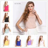 women tank top - 2016 New Fashion Vest Blouses Womens Clothing Colors Tank Top Shirt European Style Summer Tank Tops For Women