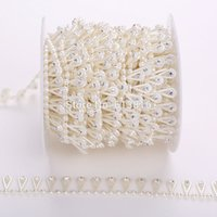 applique crafts - 10yards mm Ivory Pearl Rhinestone Chain Trims Sewing Crafts Costume Applique
