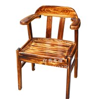 Wholesale Fire wood preservative carbonized chess coffee bar outdoor chair armchair lounge