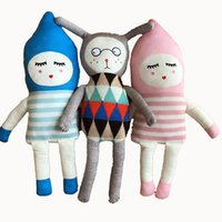Wholesale Retail Cartoon Denmark Lucky Boy Sunday Knitted Plush Doll Toys High Quality ns Children Character Stuffed Dolls MovieToys Birthday JS T05
