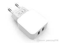 Cheap USB wall charger 5v 2.4A AC Travel Home Charger Adapter US EU plug for Samsung Galaxy Note 5 4 s7 s6 Edge plus A8 A7 white Color