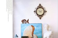 baroque wall clock - Wrought iron diamond wall clock The baroque style Europe type manual creative household ornaments