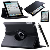Wholesale 2015 Case Cover For Apple iPad Air iPad PU Leather Flip Smart Stand Rotating Case Screen Protector Film Stylus Pen