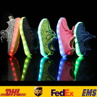 Wholesale Led Lighting Up Sneakers For Children Hot Kids Boys Girls Athletic Running Sport Flat Casual Shoes Shoes USB Charge Gifts HH S03