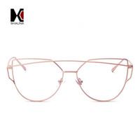 Wholesale Fashion Women Cateye Frame Original Clear Lens Glasses Retro Women Eyeglasses Men Glasses