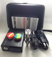 al por mayor pen box-El bolso portable barato encierra la caja de la pipa de PID TC de la cera del aceite del aparejo de la pluma del diámetro con el titanio sin titulo de la bobina del titanio Dnail E-clavo el kit la almohadilla del silicón