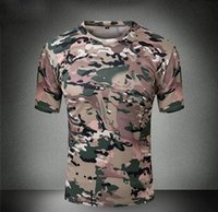 acu t shirts - Summer Outdoor Novel Camouflage T Shirt Breathable Elastic Tactical Tees Men Women Sports Fashion ACU CP Camo T Shirt