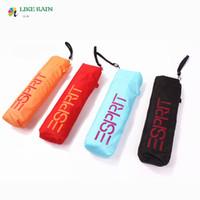 Wholesale 2016 New Creative Folding Umbrella g Super Light Small Foldable Pockets Umbrellas Rain Women Kids Paraguas