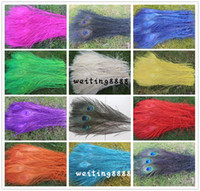 Wholesale Preferential Peacock Feathers Natural Peacock Tail Feathers Inch Peacock Feathers Plume Peacock Eye Feathers Tail Selection