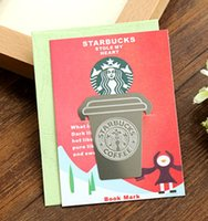 Wholesale Multy function coffee cup design bookmarks Ruler Template Reading bookmarks sale tt