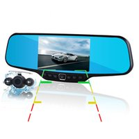 Wholesale car dvd Dual Lens C20 Car DVR Rearview Mirror Camera Novatek Full HD P FPS MP CMOS quot LCD Degree View Angle