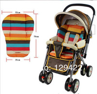 Wholesale baby Stroller Seat Pad Rainbow Colour Double faced Pram waterproof seat pad