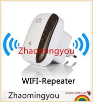 Wholesale Wireless WiFi Repeater Signal Amplifier N B G Wi fi Range Extander Mbps Signal Boosters Repetidor Wifi Wps Encryption