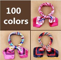 bank headband - New fashion womensWork wear silk scarf print satin square scarf hotel bank work wear scarf cm colors