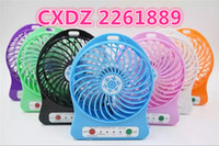 batteries fan - 2016 hot selling mah Emergency Rechargeble Battery and micro usb charger plug Outdoor desk mini portable fan with LED strong wind