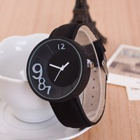 arts gift tags - 2016 Fashion Leather Women Watch Men Quartz Watches Ladies Contracted Style Cute Number Art Boutique Gift Analog Wristwatch