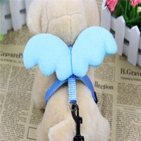 Wholesale New Pet Products Lovely Angel wings Dog Harness Leash Chest Strap Soft Padded Adjustable Sport WorkingTraining Vest Accessories