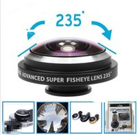 Wholesale Universal degree Clip Super cell phone Fish eye lens Fisheye selfie Camera Len with retail boxes for iPhone plus Samsung S6 Note