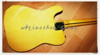 Wholesale popular Electric guitar Ebony fingerboard mahogany body basswood neck yellow body and black pickguard with bisby