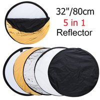 Wholesale quot cm in New Portable Collapsible Light Round Photography Photo Reflector for Studio