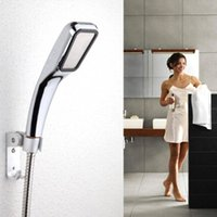 Wholesale Shower Head Pressurized Water Saving Hole Chrome with ABS Chuveiro Bathroom Showers Square Sprayer Hand Shower Head