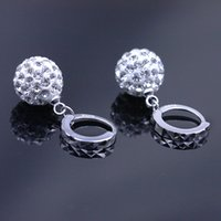 Wholesale s925 Silver Shambhala full diamond earrings earrings princess ball earrings earrings female factory