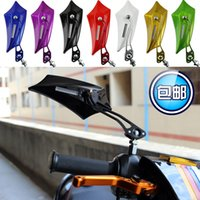 aluminum siding colors - New Model Universal Motorcycle Rearview Side Mirror Colors High quality Beautiful Paint ABS Cover Aluminum Handle Mirror