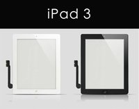 Wholesale 20PCS Touch Screen Glass Panel with Digitizer Buttons Adhesive for iPad iPad Air iPad mini Black and White