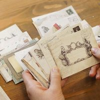 Wholesale pack New vintage style Ancien gift Envelope pack office School supply mini paper envelopes