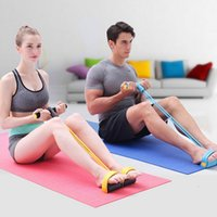 band exerciser - Fitness Resistance Bands Pull Rope Stretch Body Strength Trainer Pedal Exerciser Yoga Fitness Home Exercise Equipment MD0040 salebags