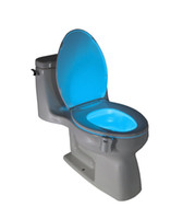 Wholesale 2016 Toilet Nightlight Home Toliet Bathroom Human Body Auto Motion Activated Sensor Seat Light Night Lamp Color Changes S