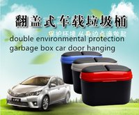 Wholesale mini automobile double environmental protection garbage storage box car door hanging clamshell trash Debris storage mixed batch