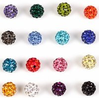 Wholesale new mm mixed multi color Micro Pave CZ Disco Crystal Shamballa Bead Bracelet Necklace Beads Hot beads Rhinestone DIY spacer