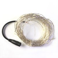 Wholesale 10M LED DC V Silver Copper Wire Starry Lights String Fairy Light Christmas Lights for Holiday Party Wedding Home Decoration