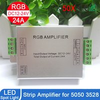 best repeater - best price DC V V Led RGB Strip Amplifier A Led rgb Amplifier RGB Strip Power Repeater Console Controller by DHL