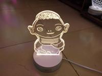 ba retail - 2016 new smart D cartoon lighting LED W fashion house desk lamp creative visual night lights gift retail box Hu Ba table lamp
