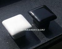 baking cabinet - Pastoral baked white porcelain jade color ceramic handle square handle handle drawer handle cabinet handle