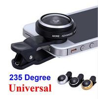 Wholesale Universal Detachable Clip on Degree Super Fisheye Fish Eye Camera Lens for iPhone Samsung Smart Mobile Phone