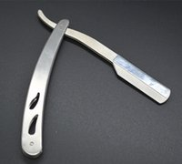 Wholesale by dhl or ems Men Male Straight Sharp Stainless Steel Barber Razors Shaving Knife Folding Hair Removal Tools