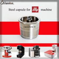 Wholesale Capsulone STAINLESS STEEL Metal illy coffee capsule Machine Compatible Refillable Reusable capsule gift illy cafe capsule
