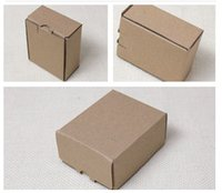 apparel care - 8 cm Small kraft Cardboard Box small brown corrugated soap Packaging Box