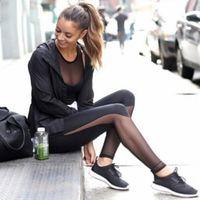 Wholesale Mesh Women Leggings Elastic Stretch Sport Slimming Workout Active Pants Running Fitness Leggings Gym Trousers