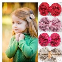 Wholesale Baby barrettes new The little princess hair clips cute girls children sequins hairpin hair jewelry Bowknot is children s hair clips