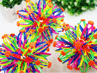 Wholesale 2016 New expanding sphere mini ball kids toy rainbow Colorful flower magic ball children s toys D916