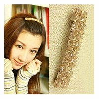 Wholesale T036 Hot Selling New Girl Bijoux Crystal Barrettes Headbands For Women tiara Wedding Hair Jewelry Accessories One Direction