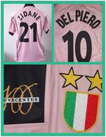 army issue - Serie A JU centenary Match Worn Player Issue Shirt Jersey Short sleeves Zidane Del Piero jerseyCustom Patches Sponsor