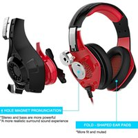 Wholesale Beexcellent Gaming Headset For PS4 PSP Xbox One Tablet iPhone Ipad Samsung Smartphone Led Light Headphone With Adapter Cable For PC