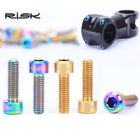 Wholesale Risk Mountain Bike Titanium Alloy Screws M5x16 mm TC4 Stem Seatpost Locking Screws Stem Seatpost Clamp Titanium Bolts